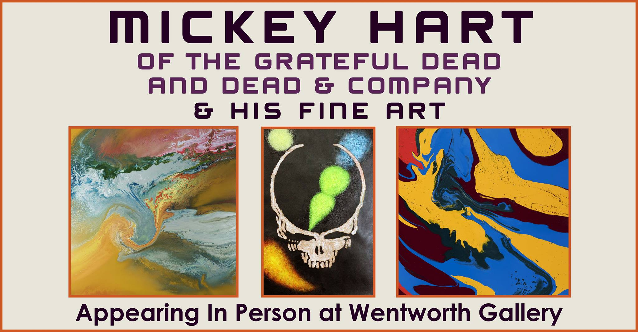 Mickey Hart of Grateful Dead - Wentworth Gallery Tysons Galleria