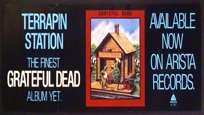 Grateful Dead Terrapin Station 1977 Arista Promo Banner
