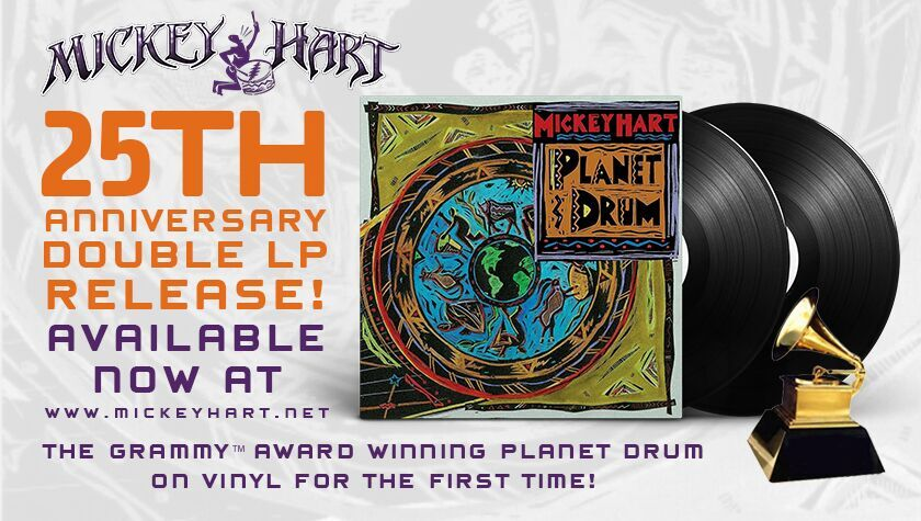 Limited quantities of the Planet Drum vinyl remain. Get yours today!