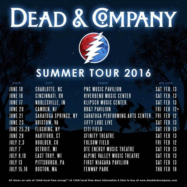 Dead & Company                                                                 2016 Summer Tour