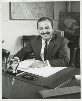 A young Remo in his office.
